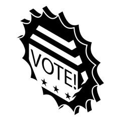 Vote emblem icon, simple style