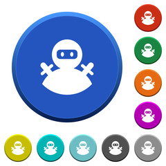 Ninja avatar beveled buttons