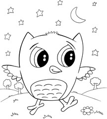 Cute Owl Vector Illustration Art