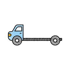cartoon tow truck repair transport assistance vector illustration