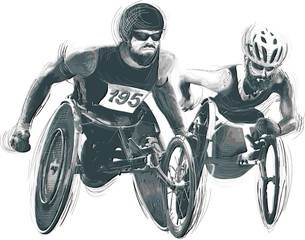 Athletes with physical disabilities - WHEELCHAIR RACING