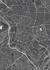 Madrid city plan, detailed vector map