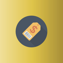 Money Tag Icon. flat design