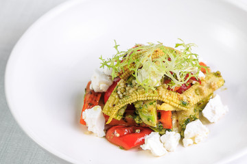 fresh salad in a white plate