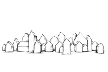 Kleine Modellhäuser