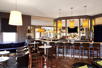 Bar and lounge at upscale restaurant