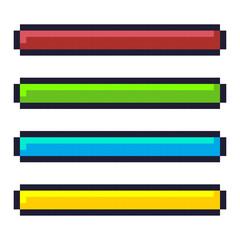 Loading progress bar pixel art cartoon retro game style