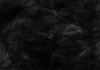 Black grunge background created from triangle