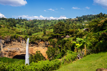 The amazing Sipi falls in the Mount Elgon national park in Uganda Wall mural