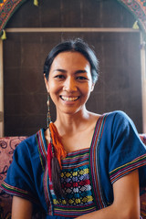 Serene Smile of a Beautiful Thai Woman