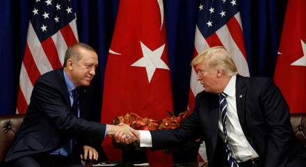 U.S. President Donald Trump meets with President Recep Tayyip Erdogan of Turkey in New York