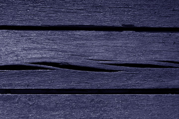 Old blue color weathered wood planks.