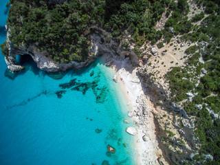 Aerial view of mediterranean beach, Sardinia