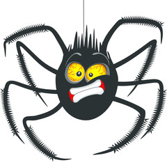 Printed roller blinds Draw Spider
