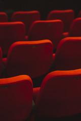 red cinema or theatre empty seats