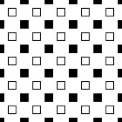 Black and white seamless abstract geometrical square pattern - vector background graphic design