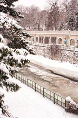 City winter park landscape