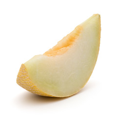 melon slice isolated on white background cutout