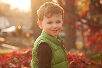 Little Boy Backlit by Sun