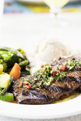Argentinian Skirt Steak with Chimichurri Sauce
