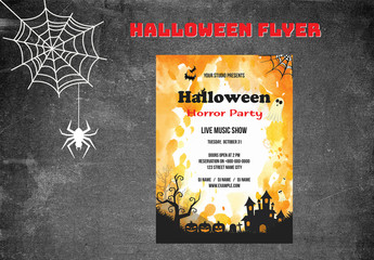 Halloween Party Flyer Layout 7