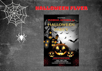 Halloween Party Flyer Layout 8