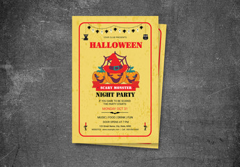 Halloween Party Flyer Layout 11