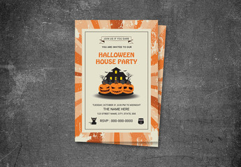 Halloween Party Flyer Layout 15