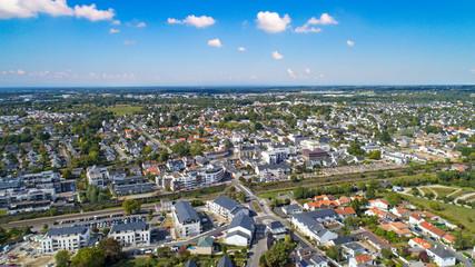 Photo aérienne de Thouaré-sur-Loire, en Loire Atlantique