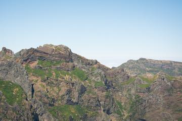 Ausblick auf Berge in Madeira