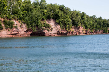 Shoreline cave on an Apostle Island in Lake Superior
