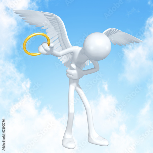 The Original 3D Angel Character Illustration