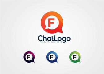 Letter F Chat Bulb Logo Template Design Vector, Emblem, Design Concept, Creative Symbol, Icon