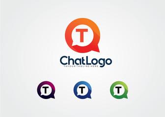 Letter T Chat Bulb Logo Template Design Vector, Emblem, Design Concept, Creative Symbol, Icon