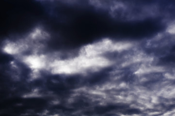 sky with dark clouds background