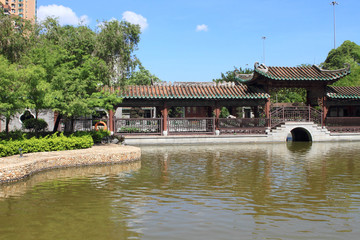 Chinese garden in Hong Kong