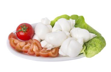 Nodini con pomodoro e lattuga