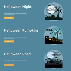Halloween Poster Banner Design