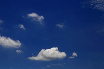 Many small cloud on blue sky
