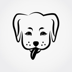 Dog Outline Vector Icon