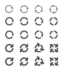 Rotation Arrows Set - stock vector.