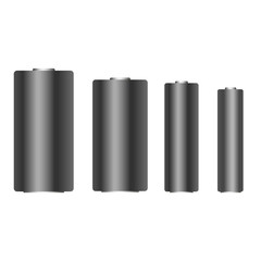 Set of different batteries vector