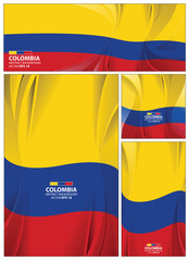Abstract Colombia Flag Background