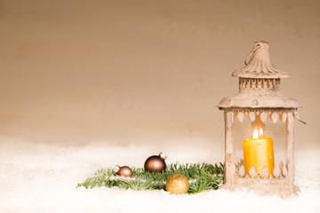 rustikale laterne zum advent