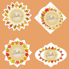 Stickers for sale in autumn.