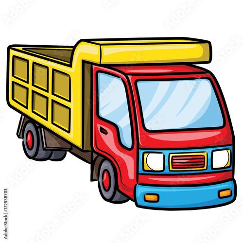 Truck Cartoon Illustration Of Cute Cartoon Truck Stockfotos Und
