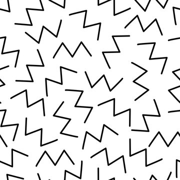Zigzag. Retro background. Seamless pattern in memphis style