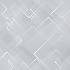 Abstract gray and white square shape technology laser background. Vector