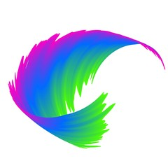 abstract colorful rainbow wave background Vector illustration
