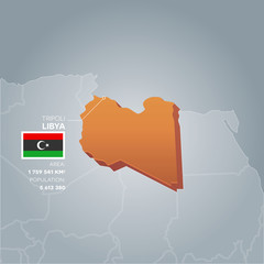 Libya information map.